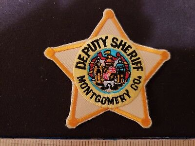 Montgomery County Sheriff Patch 5 Point Star Old Style Badge Patch Maryland Md