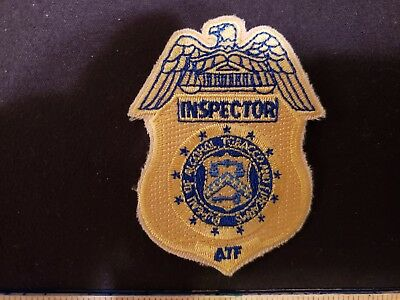 Atf Inspector Patch Alcohol Tobacco Firearms Police Rare Patch Agent Federal Dc