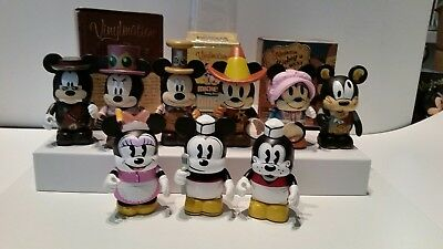 Vinylmation Lot of 9- Mickey's Really Swell Diner, Mechanical Kingdom, Wild West