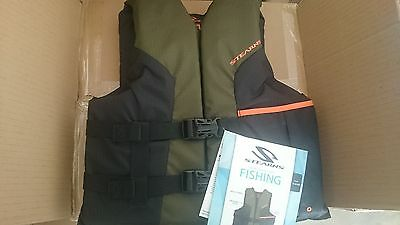 life jacket pfd vest stearns sportsman fishing 3 sizes pic 1
