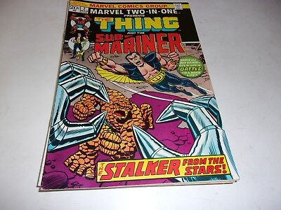 Marvel Two-In-One # 2--Thing,Sub Mariner--last 20 cent issue--1974--Fine +
