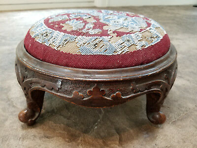 Victorian Beaded Footstool