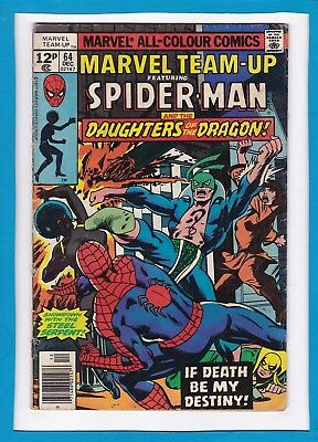 Marvel Team-Up #64_Dec 1977_Vg_Spider-Man_Daughters Of The Dragon_Iron Fist_Uk!