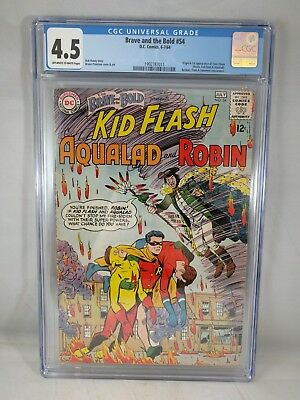 Brave and the Bold #54 1964 CGC 4.5 1st app. Teen Titans! Silver Age Comic Movie
