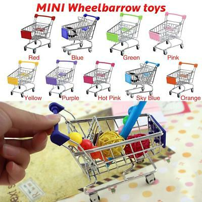 Mini Supermarket Handcart Shopping Cart Utility Cart Mode Storage Toy Basket