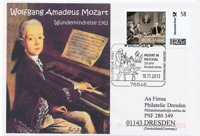 W.A. Mozart & Vater Leopold, Nannerl, Wunderkindreise 1763, Marke individuell