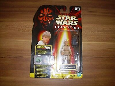 Star Wars Figur - Episode 1 - Anakin Skywalker - Hasbro - OVP - CommTalk Chip