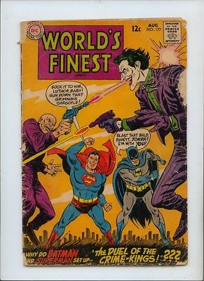 Worlds Finest Comics #177 Good- 1.8 Joker Cover