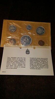 1961 CANADA SILVER PROOF-LIKE 6 COIN SET UNCIRCULATED COINS Royal Canadian Mint
