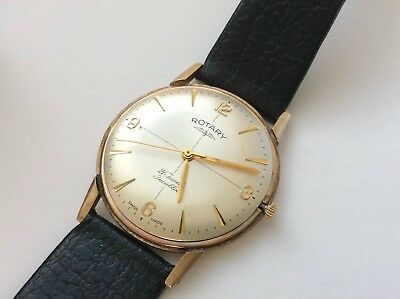 Vintage Mens Watch. Rotary Solid 9ct Gold. Manual. Working.
