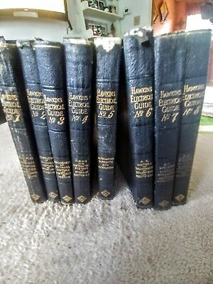 "Antique ""Hawkins Electrical Guide""; 9 Volumes (1914-1915)"