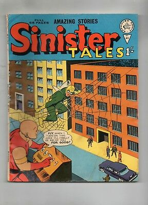 SINISTER TALES # 88 / PRE-DECIMAL ALAN CLASS / V.GOOD+ / THE FLY x 5.
