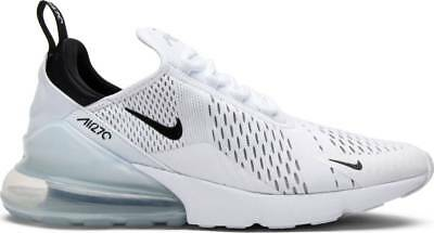 Nike Air Max 270 White Black White AH8050-100 Mens Authentic