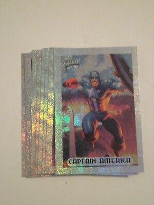 1994 MARVEL MASTERPIECES -- Holofoil Cards -- Full Subset of 10