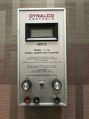 Dynalco Controls Model F 16 Signal Hertz Generator Frequency Counter Governors