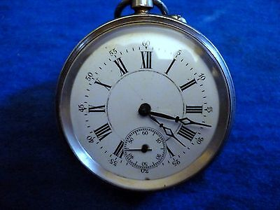 Old Silver Open Face Pocket Watch  English Silver: Birmingham