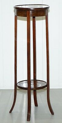 Nice Victorian Mahogany Hand Made In England Jardiniere Plant Pot Stand 1 Of 2