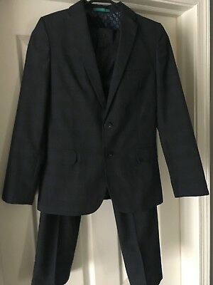 M&S Autograph Navy 2 Piece Suit Youth Boys Pants/Jacket 10-11 years