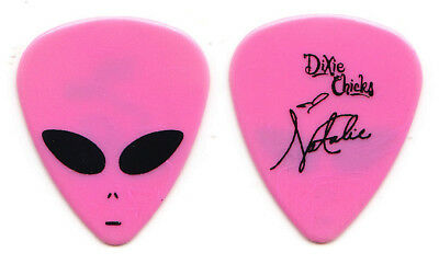Dixie Chicks Natalie Maines Signature Pink Alien Guitar Pick - 1998 Tour