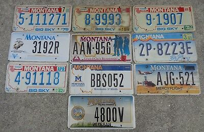 10 Montana license plate lot for collecting or craft