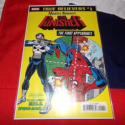 The Amazing Spider-Man #129 1st Appearance of Punisher MARVEL TRUE BELIEVERS #1
