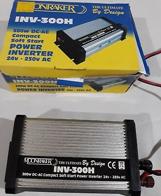 Moonraker 300W 24V - 230V Power Inverter 24 volt INV-300H Truck USB DC AC 3 PIN