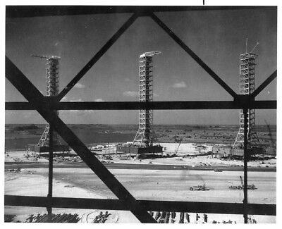 APOLLO / Orig NASA 8x10 Press Photo - View of Launch Towers at KSC
