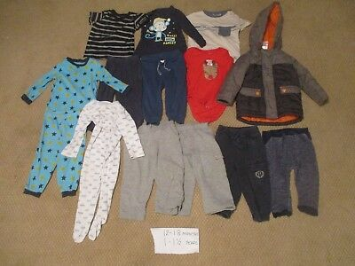 12 - 18 Month 1 - 1 1/2 Year old  Boys Clothes 14 items