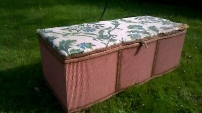 Lloyd Loom Vintage Retro Ottoman storage Blanket Linen Toy Box Chest