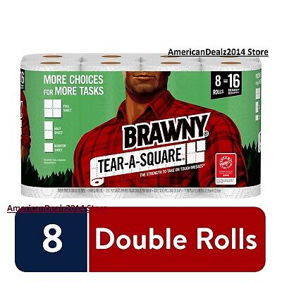 Brawny Paper Towels 6, 8, 24, 48 Large Rolls NEW - FREE EXPEDITED SHIPPING!!!