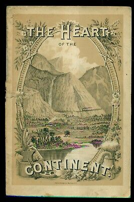 """1882 Chicago,Burlington & Quincy Railroad """"The Heart of The Continent"""" Booklet"""
