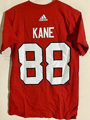 dc204221798 ADIDAS NHL T-Shirt Chicago Blackhawks Patrick Kane Red sz L - $9.99 ...