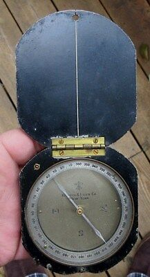 Vintage Rare Keuffel & Esser Company, New York, Surveying Compass In Metal Case