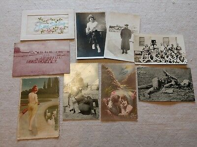 10 Piece Collection of Cards Photos from Soldier & Sweetheart 310th Infantry