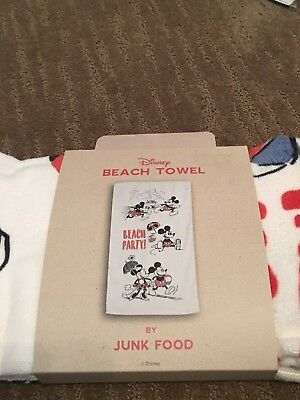 Disney Mickey Mouse Beach Towel By Junk Food    New