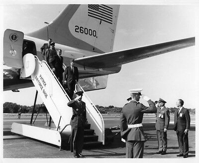 JFK / Orig NASA 8x10 Press Photo - President Kennedy Arrives at Cape in 1963