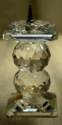 Vintage Swarovski Crystal Two Ball Candlestick With Pin Or Spike Top Retired