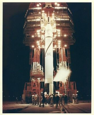 EXPLORER 1 / Orig NASA 8X10 Press Photo - First U.S. Satellite on Launch Pad
