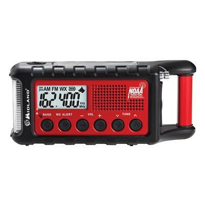Midland ER310 Emergency AM/FM Weather Crank Solar Radio w/ LED Flashlight + USB