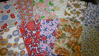 "Lot of 15 Vintage Feedsack Pcs. 4""-6""++Squares Quilt top blocks cotton fabric-S4"