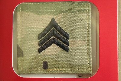 Us Army Gi Multicam Ocp E-5 Sgt Hook Back Camouflage Camo Uniform Rank Patch