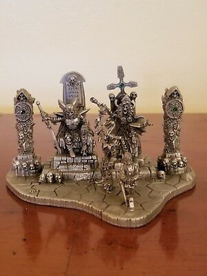 Rawcliffe pewter miniatures Ral Partha D&D AD&D Reaper Diorama Dragoth's Court!!