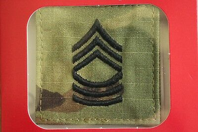 Us Army Gi Multicam Ocp E-8 Msg Hook Back Camouflage Camo Uniform Rank Patch