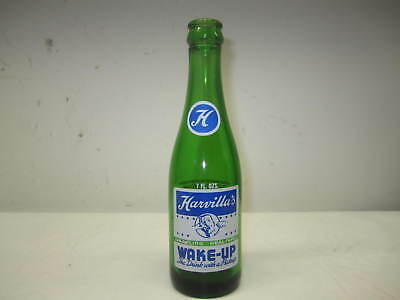 Vintage Harvilla's Wake-Up Soda Pop Bottle Minersville Pa.