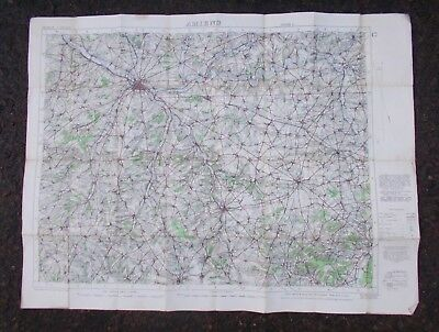 A Good Ww1 British War Office Ordnance Survey Map Oct.1915 Amiens France