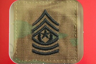 Us Army Gi Multicam Ocp E-9 Csm Hook Back Camouflage Camo Uniform Rank Patch