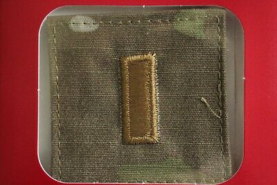 Us Army Gi Multicam Ocp O-1 2Lt Hook Back Camouflage Camo Uniform Rank Patch