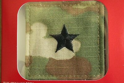 Us Army Gi Multicam Ocp O-7 Bg Hook Back Camouflage Camo Uniform Rank Patch