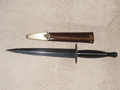 Vintage William Rodgers Sheffield England Fairbairn Sykes Style Fighting Knife.