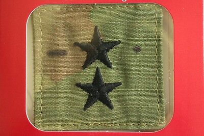 Us Army Gi Multicam Ocp O-8 Mg Hook Back Camouflage Camo Uniform Rank Patch
